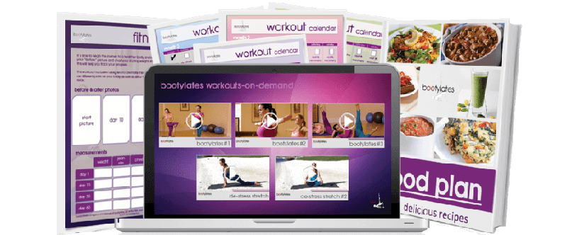 Bootylates Workout Calendar and Food Plan Image